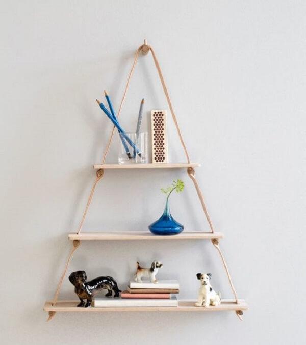 Design criativo para prateleira de corda. Fonte: Design Milk