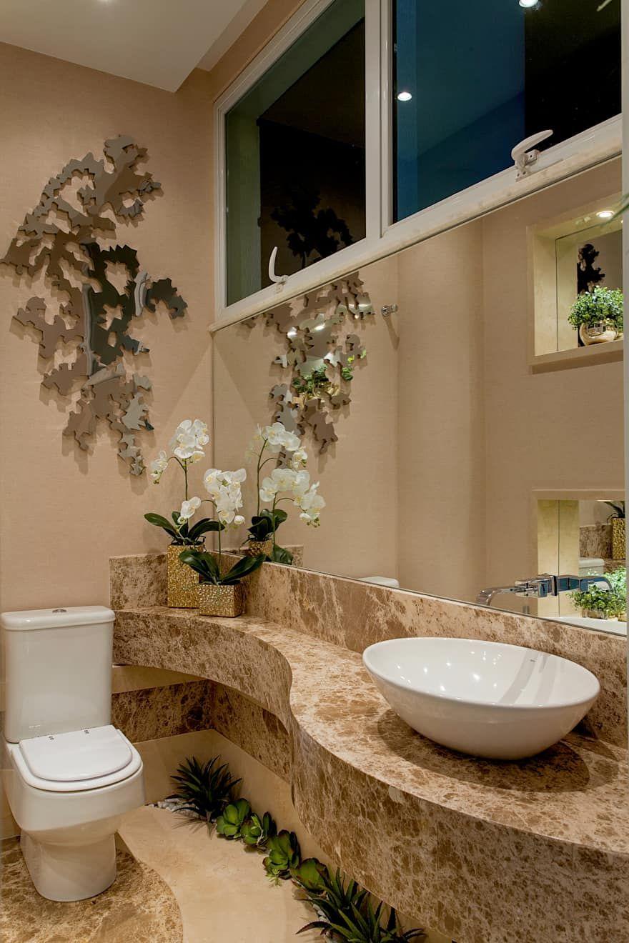 Granito Bege para banheiro chique