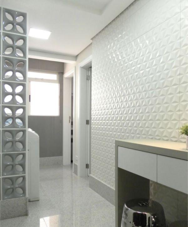 Lavanderia com azulejo 3D