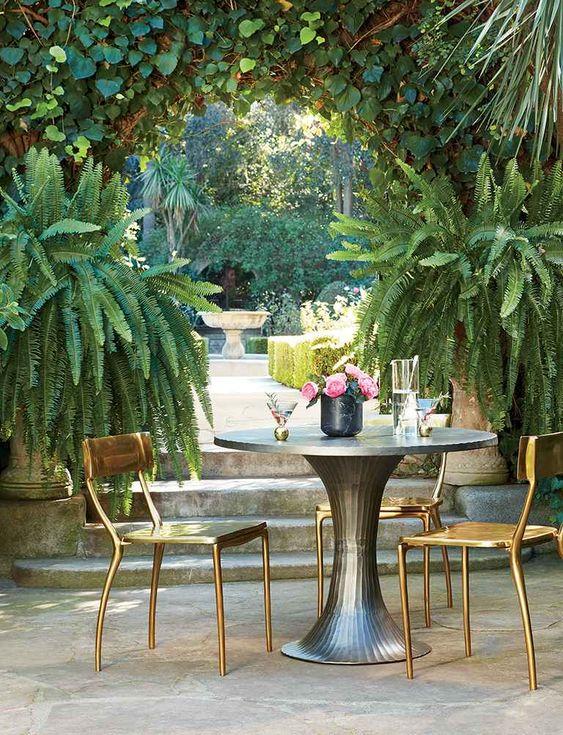 Mesa de jardim 2 lugares de ferro