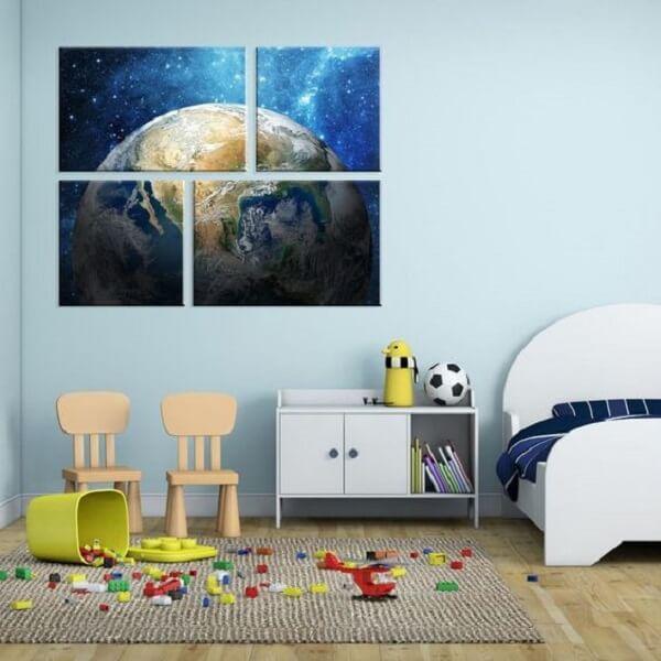 Os quadros mosaico para quarto infantil fazem muito sucesso. Fonte: Mobly
