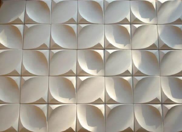 Parede com revestimento 3D para cozinha