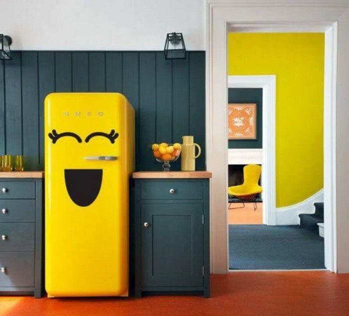 Personalize a superfície de eletrodomésticos da casa e deixe a decoração mais divertida. Fonte: Artesanato na rede
