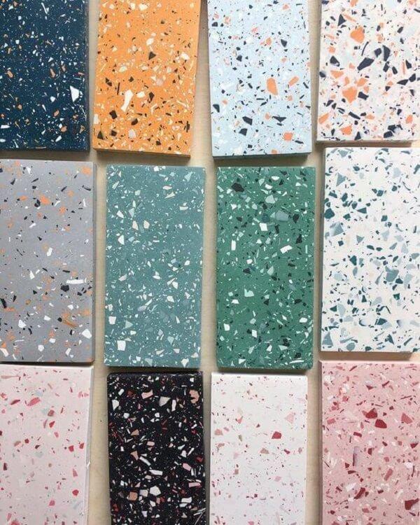 Piso colorido feito em granilite: escolha a cor e transforme seu projeto