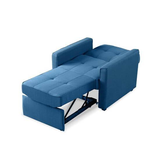 Poltrona cama azul