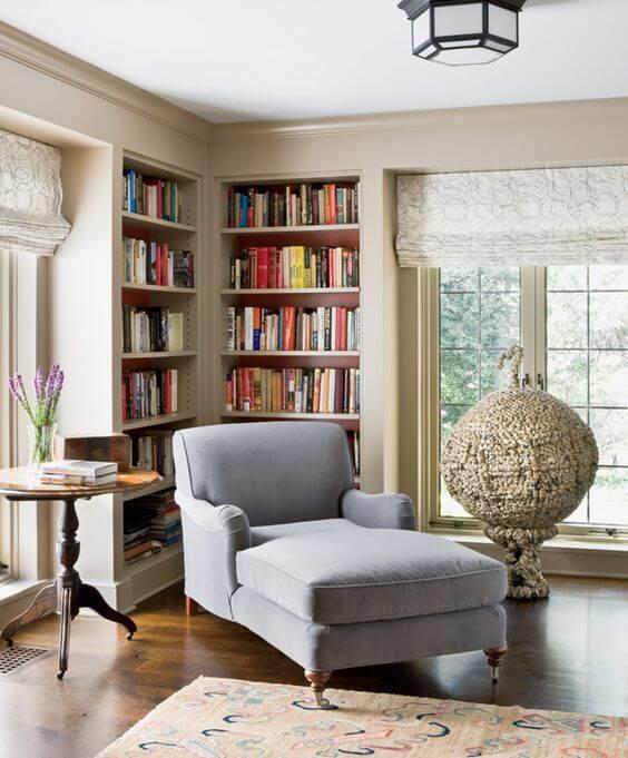 Poltrona cama para cantinho da leitura