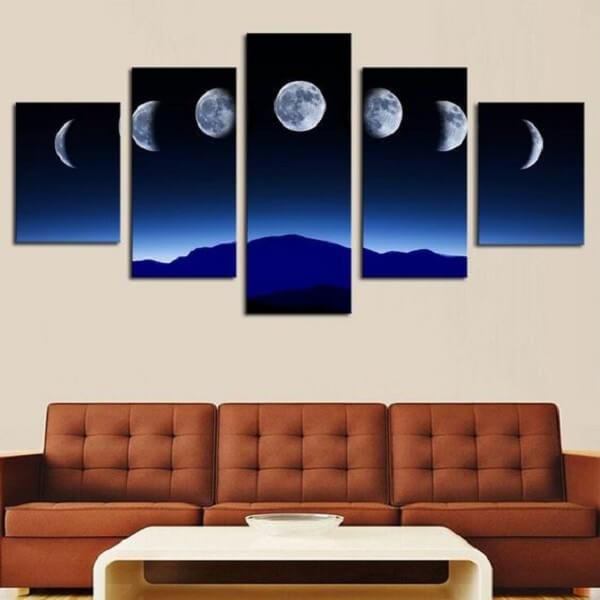 Quadro de mosaico com as fases da lua. Fonte: Pinterest