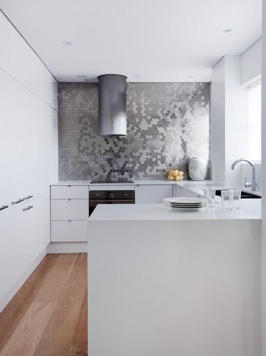 Revestimento 3D para cozinha espelhada