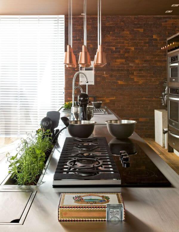 Revestimento 3D para cozinha marrom