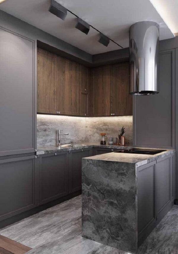 Silestone cinza textura com efeito marmorizado