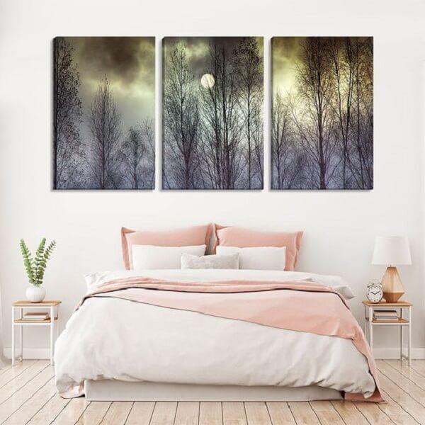 Traga a energia da lua em forma de quadros mosaico para quarto. Fonte: Pinterest
