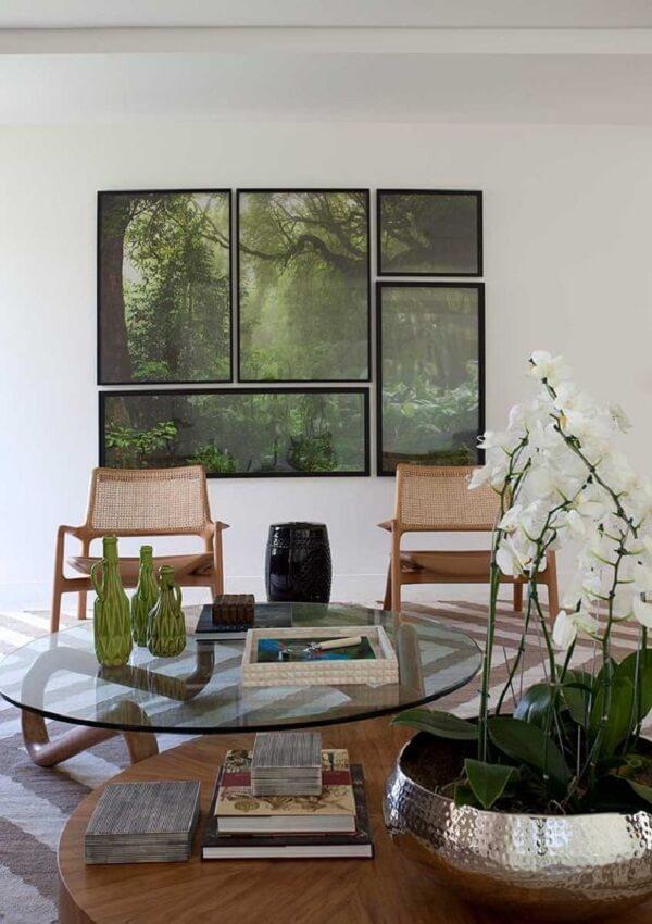 Traga o frescor da floresta em forma de mosaico de quadros na parede. Fonte: Casa de Valentina