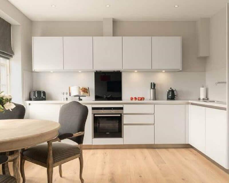 balcão de canto para decoração de cozinha branca Foto Muito Chique