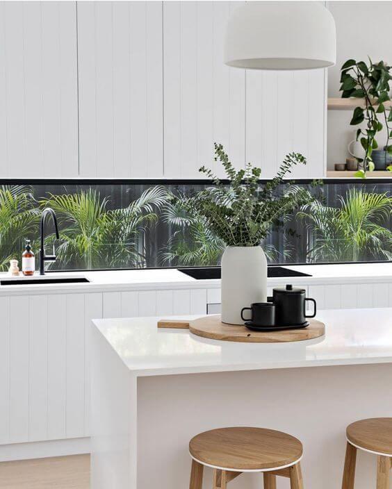 Bancada de cozinha em granito branco