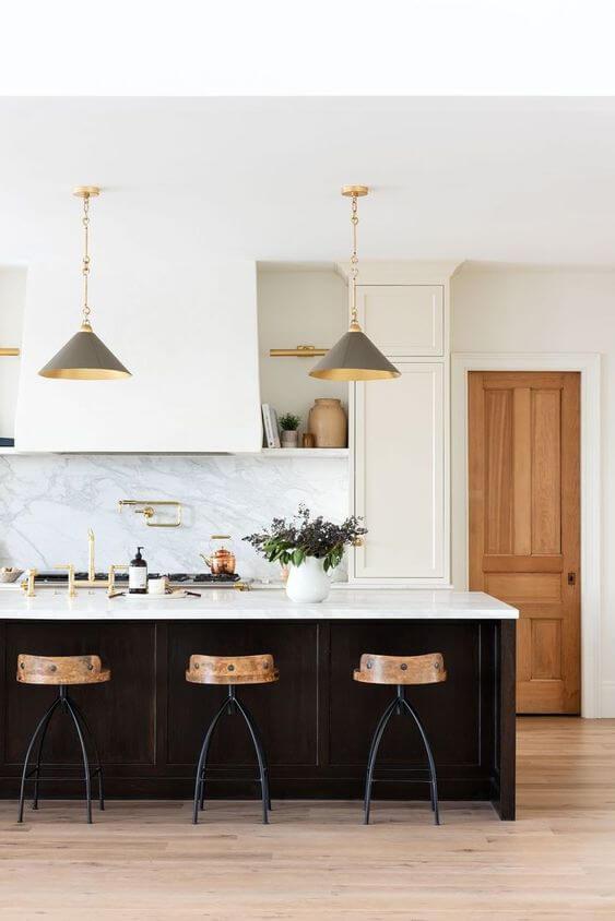Bancada de granito para cozinha preto e branca