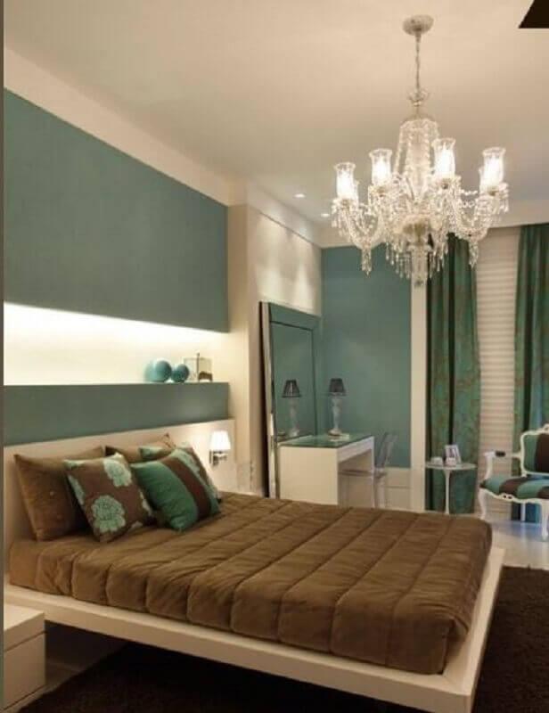 cama suspensa para decoração de quarto bege e verde  Foto Pinterest