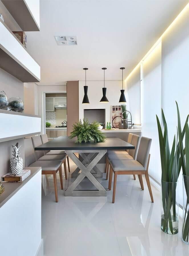 cinza claro para decoração de área gourmet moderna Foto Tetriz Arquitetura e Interiores