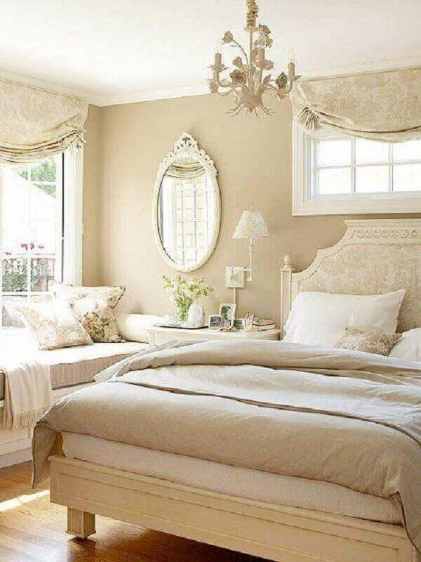 couleur beige pour la décoration de chambre de femme classique Foto We Heart It