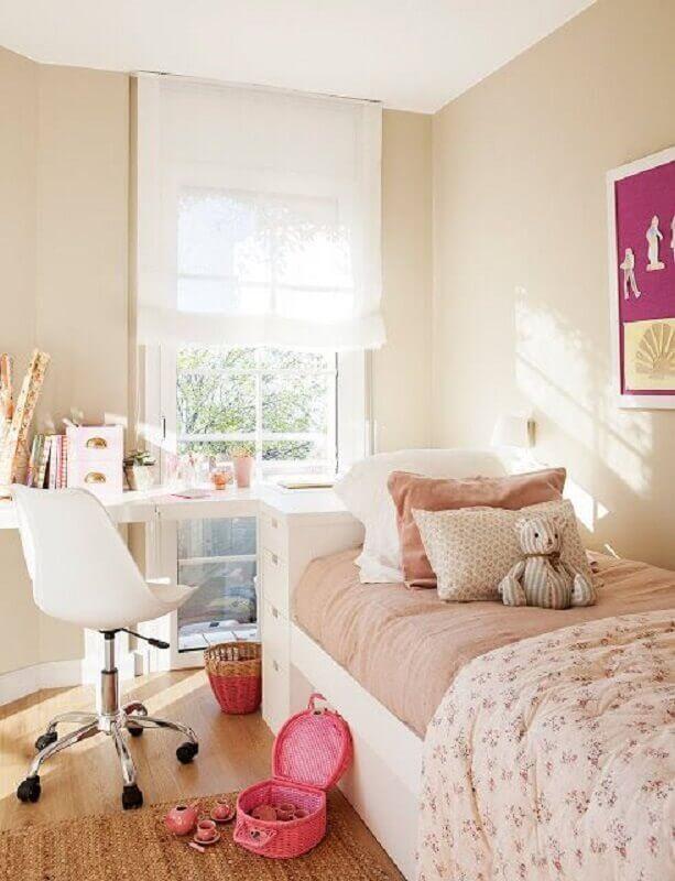 decoração com cadeira giratória para quarto feminino infantil Foto Casa de Valentina