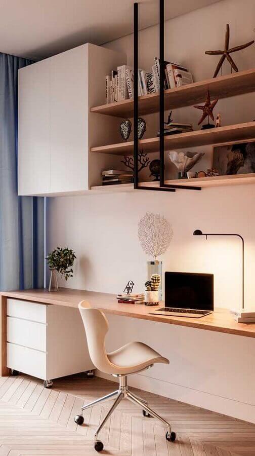 decoração com cadeira para bancada de estudo Foto Jeito de Casa