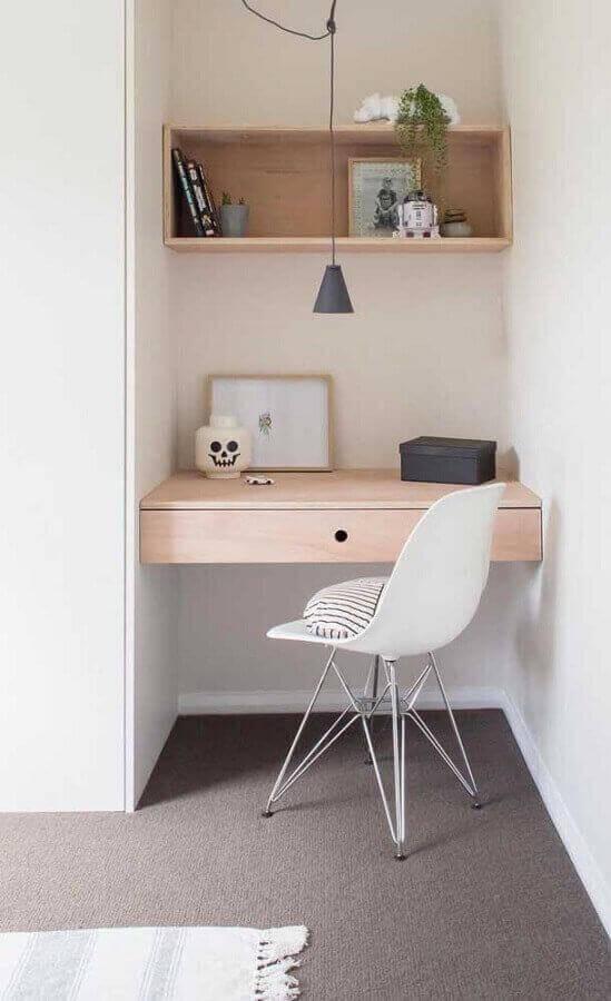 decoração com cadeira para bancada de estudo suspensa Foto Home Fashion Trend