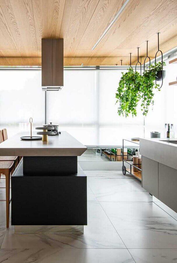 decoração de área gourmet moderna ampla com ilha Foto Pinterest
