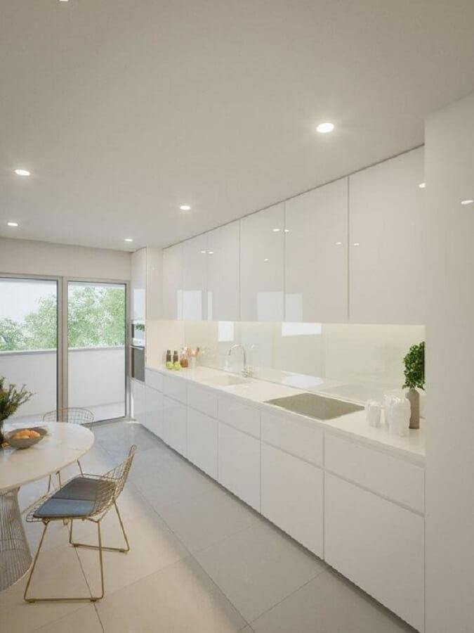 decoração minimalista para cozinha branca Foto Histórias de Casa