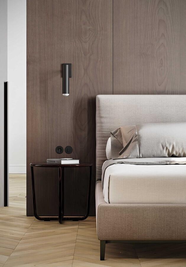 decoração moderna com luminária de parede quarto Foto Original Home