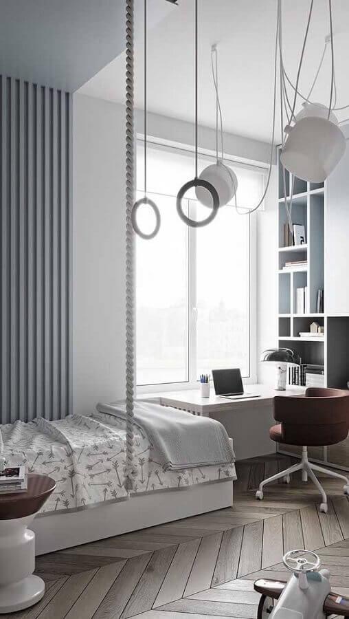 decoração moderna com mesa escrivaninha para quarto clean Foto Pinterest