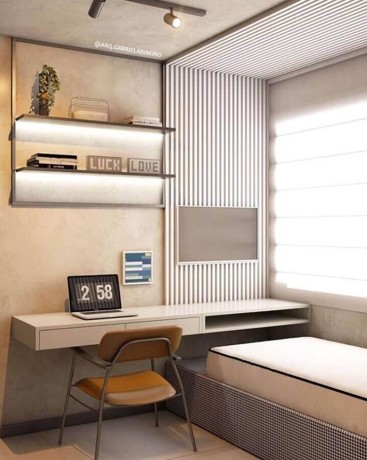 décor moderne avec table suspendue pour chambre individuelle prévue Foto Pinterest