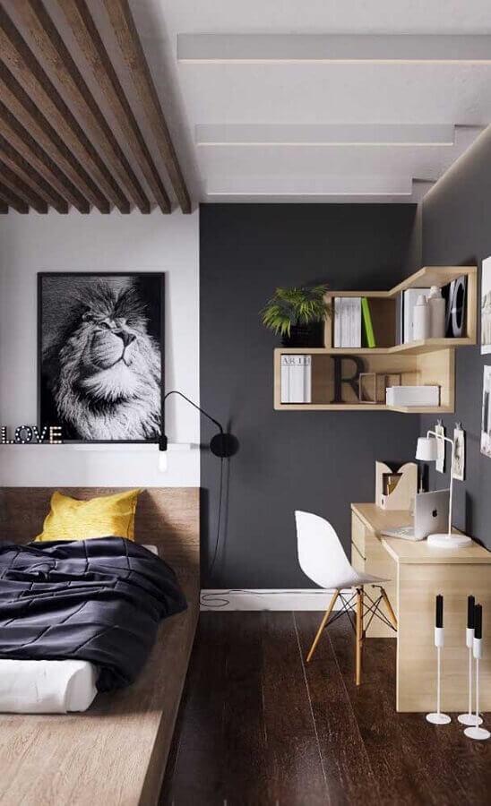 décoration simple avec table de bureau pour chambre Foto Pinterest