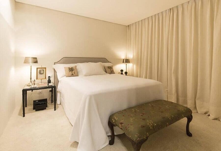 decoração simples para quarto de casal bege Foto Pinterest
