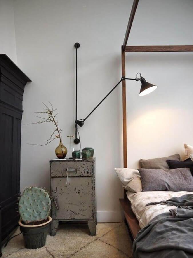 luminária de parede industrial para decoração de quarto simples Foto Futurist Architecture