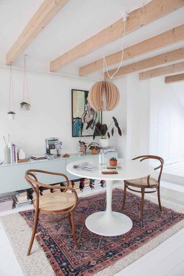 modelos de tapetes para sala de jantar com decoração simples Foto Home Fashion Trend