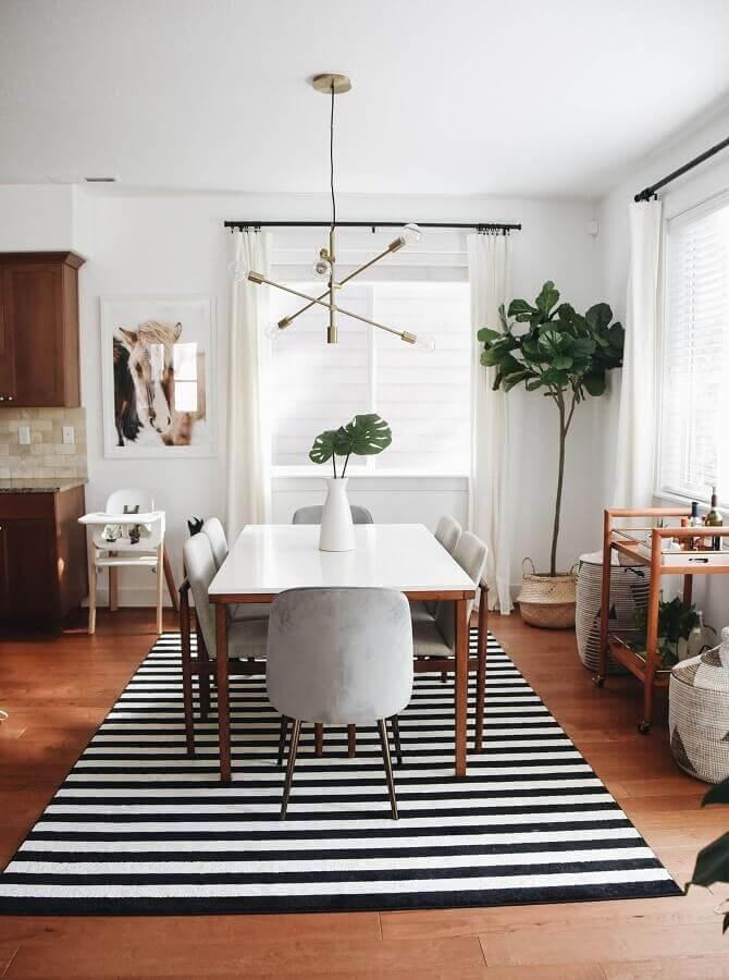 modelos de tapetes para sala de jantar simples Foto Pinterest