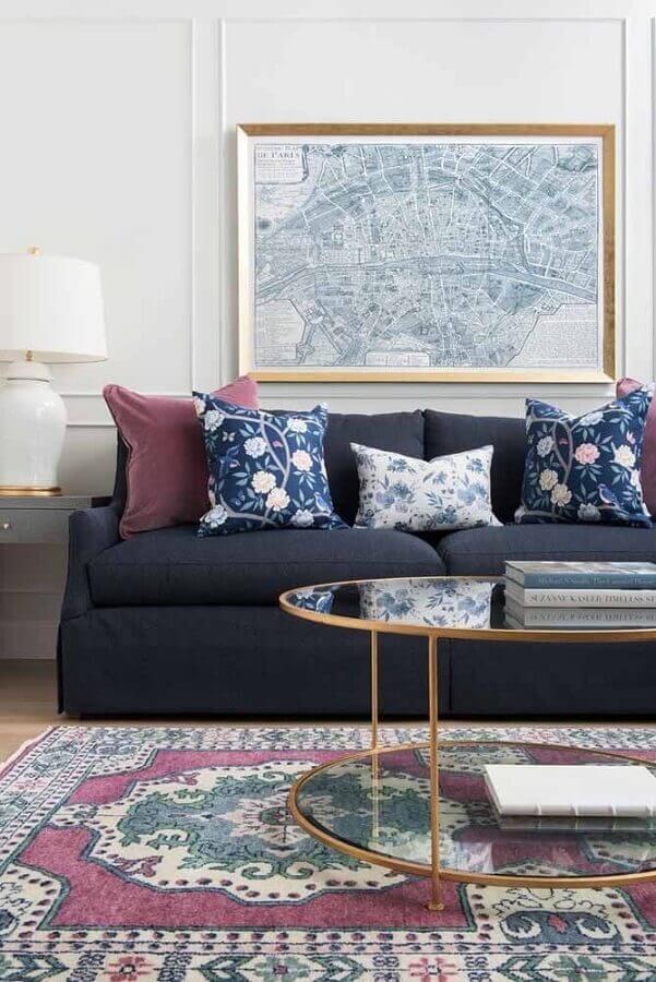 modelos de tapetes persa para decoração de sala simples Foto Pinterest