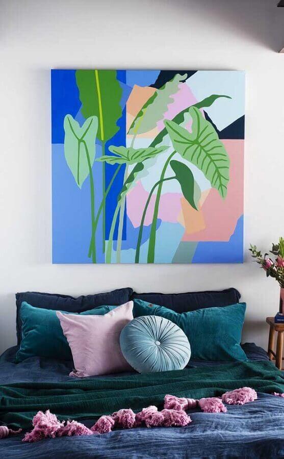 quadro colorido para decoração de quarto de mulher Foto Home Fashion Trend