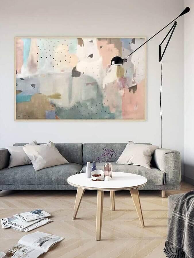 quadro grande decorativo para decoração de sala simples minimalista Foto Pinterest