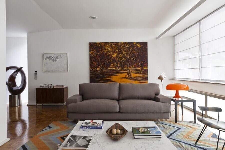 quadro grande para sala de estar simples Foto AMC Arquitetura