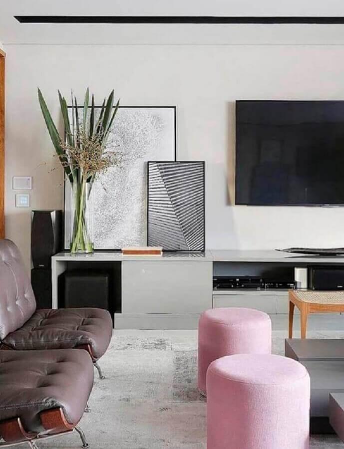 quadros decorativos grandes para sala de TV moderna Foto Home Fashion Trend