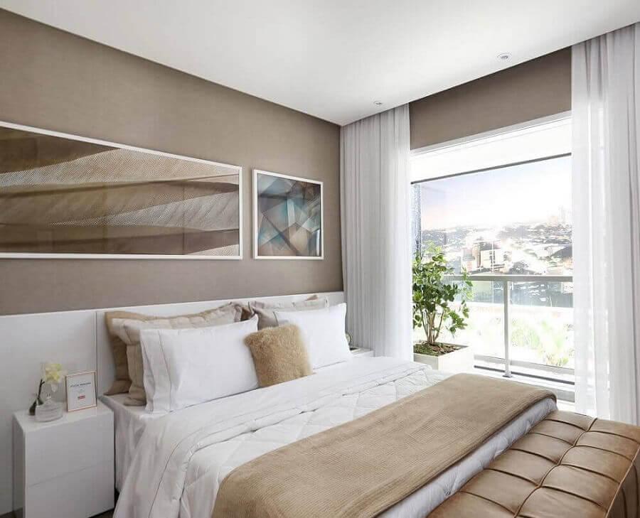 Quadros para decoração de quarto bege e branco  Foto Histórias de Casa