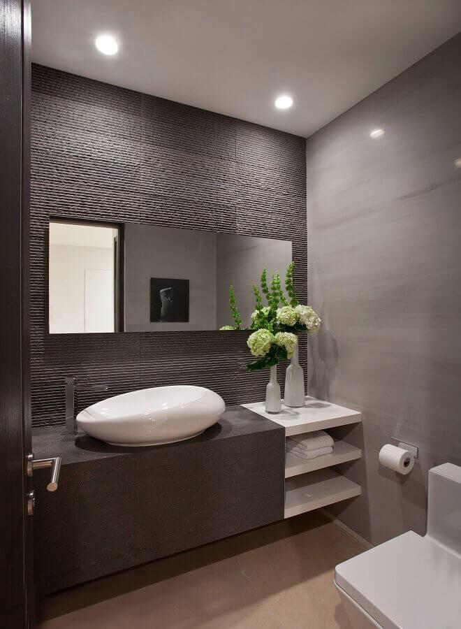 revestimento cinza escuro para decoração de banheiro moderno Foto Air Freshener