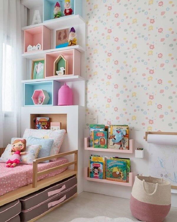 Almofadas para quarto infantil com design delicado. Fonte: Pinterest
