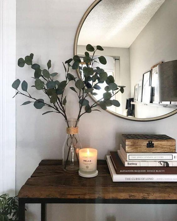 Aparador de madeira e ferro na decoração rustica