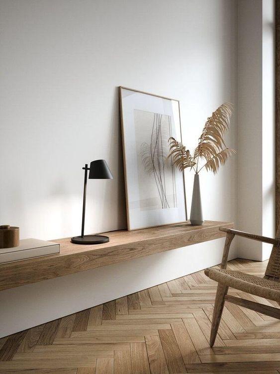 Aparador rustica de madeira suspensa
