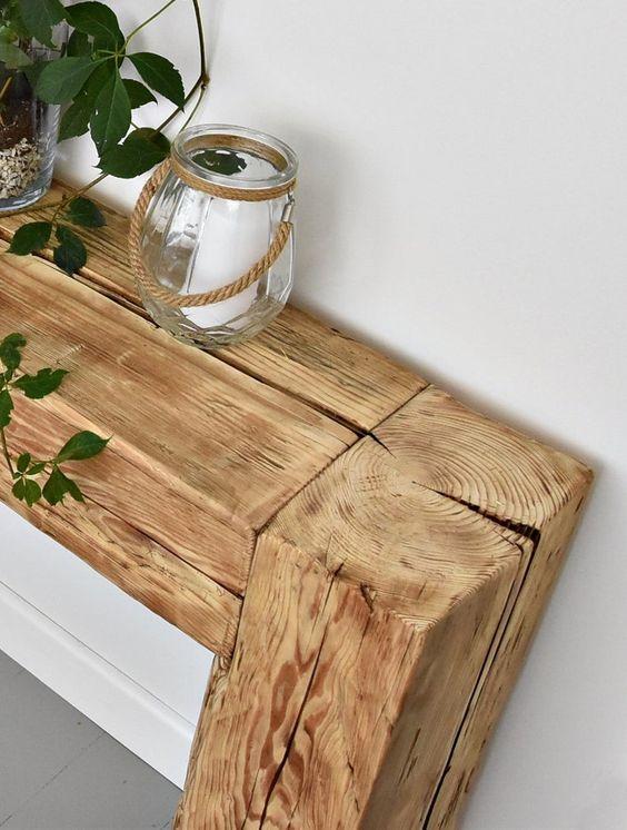 Aparador rustico de madeira