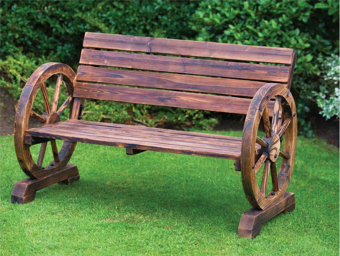 Banco de jardim de madeira vintage