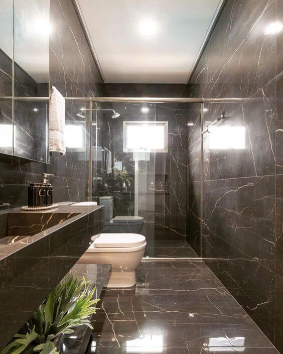 Cores de porcelanato marrom e marmorizado