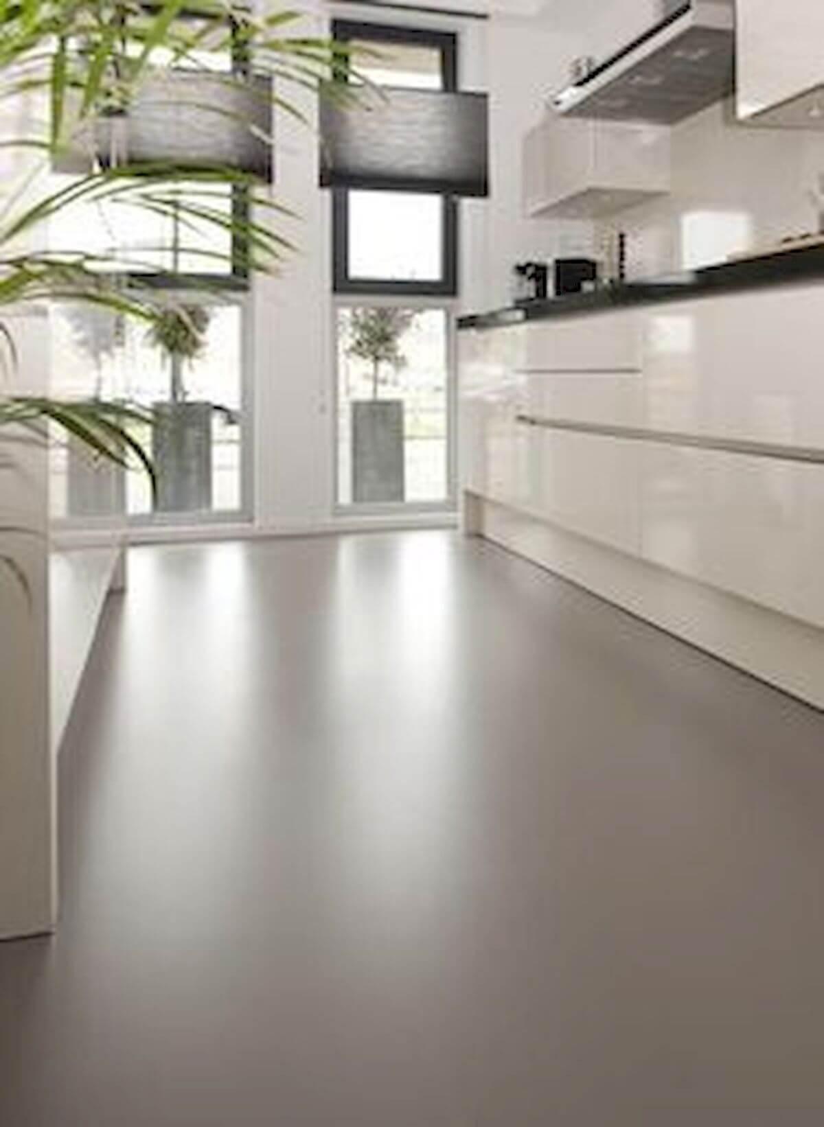 Cozinha com cores de porcelanato liquido cinza