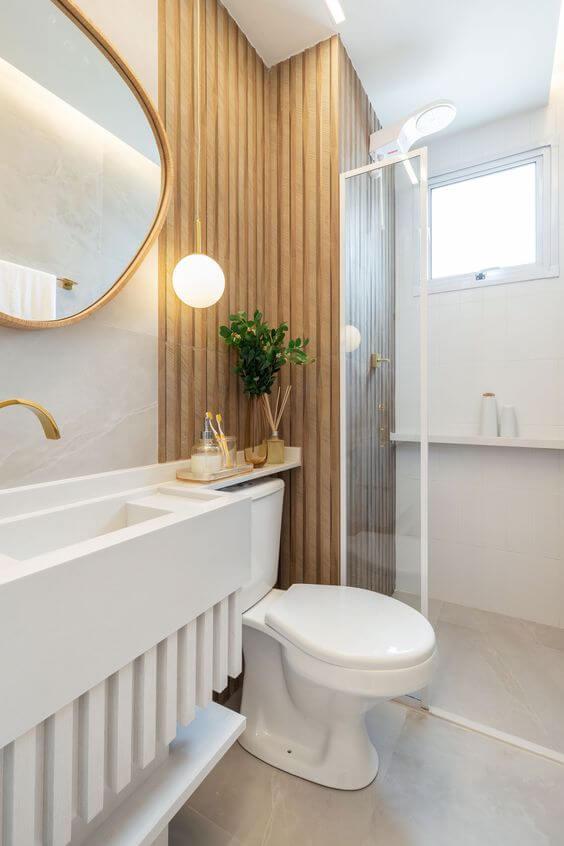 Cuba de porcelanato para banheiro branco